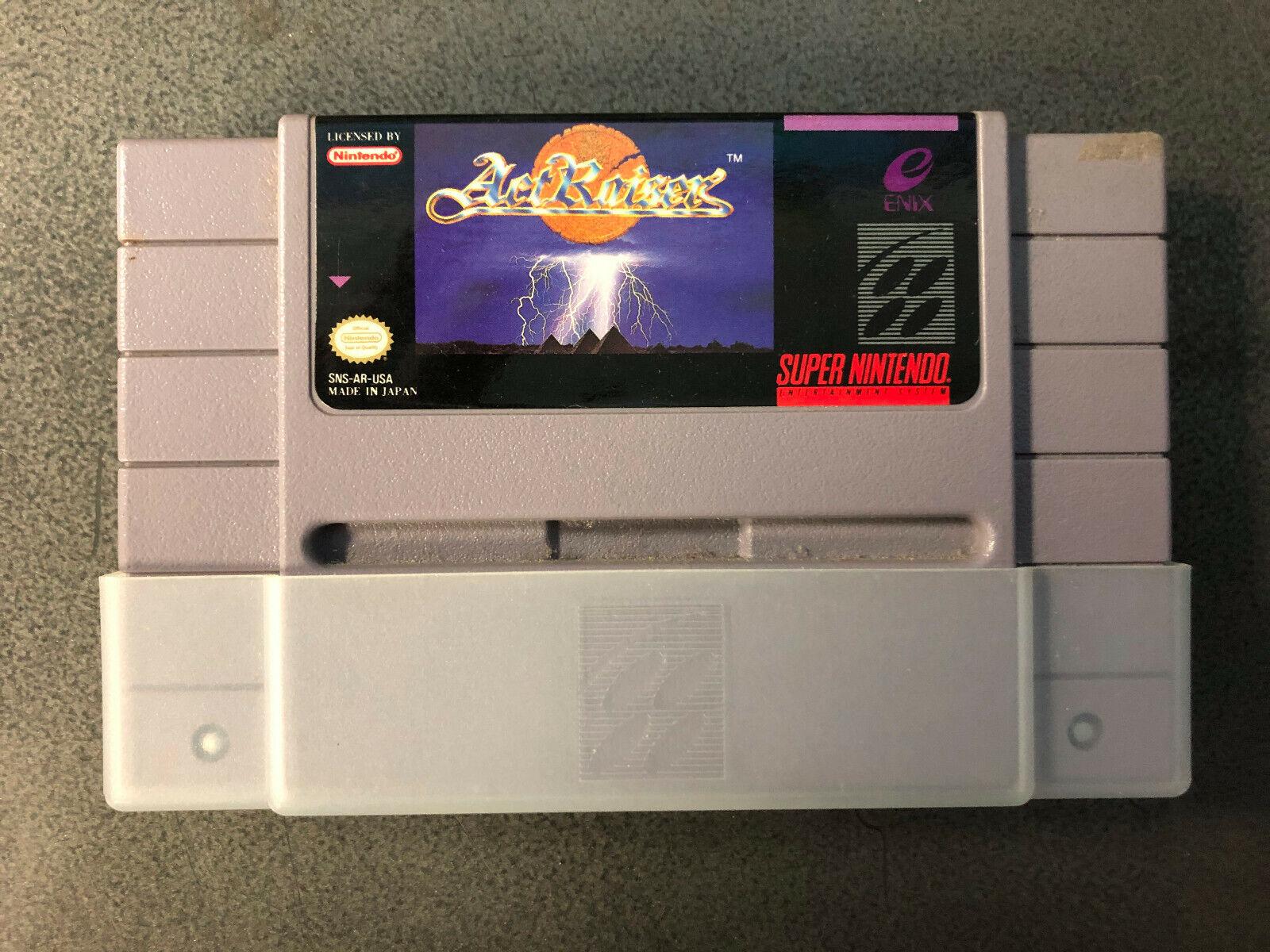 ActRaiser Super Nintendo Entertainment System SNES, 1991 Authentic RARE Tested - $96.00