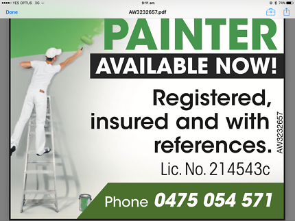 Painter available now