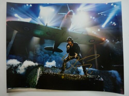 Bruce Dickinson Iron Maiden Signed Live Color 11x14 Photo Beckett Certified #1