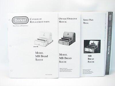 Berkel Mb Bread Slicer Service Manual Operator Manual Parts Catalog Specs