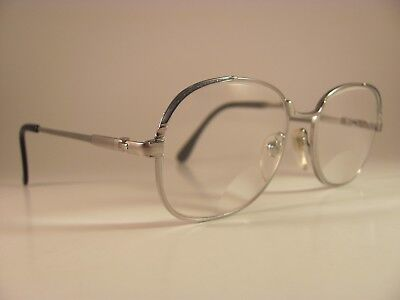 Vintage Windsor Optics Metallic Silver Full-Rim RX Eyeglass Frames (Windsor Optical)
