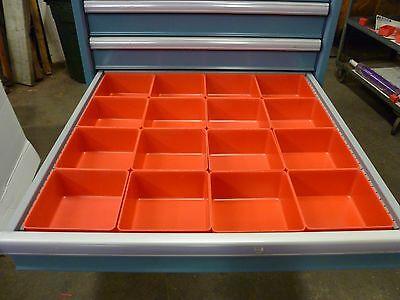 16 - 6x6x3 Plastic Boxes Lista Vidmar Toolbox Organizer Trays Drawer Dividers