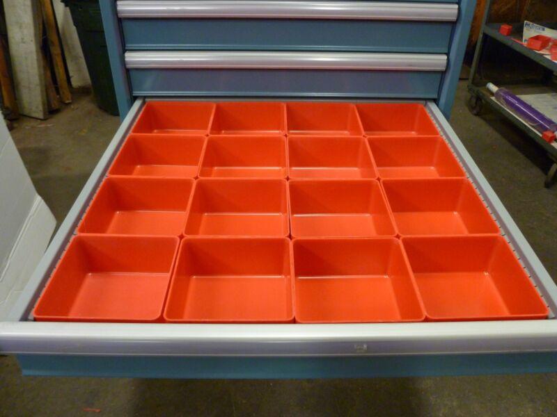 "16 - 6""x6""x3"" Plastic Boxes Lista Vidmar toolbox Organizer Trays Drawer Dividers"