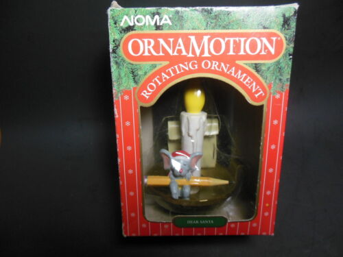 NOMA Ornamotion Dear Santa Note Mouse Candle Christmas Tree Ornament 1989 w/Box