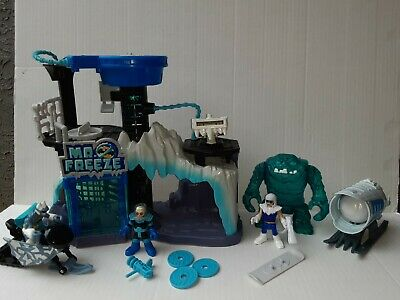 Imaginext Mr Freeze Headquarters With Captain Cold Ice Clayface Complete Set