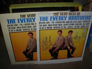 EVERLY BROTHERS the very best ( rock ) PROMO POSTER SIGNED by PHIL & DON