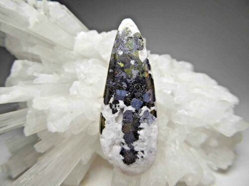 Mangano Calcite Pyrite Galena Sphalerite Gemstone Cabochon or Pendant Bead