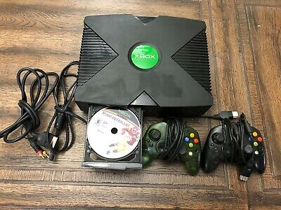 Original Xbox Console Bundle + 2 Controlles + 1 Game - Tested