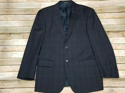 Marco Valentino Plaid Print Suit Jacket Blazer Superfine 150