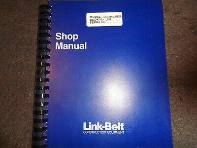 Link Belt Ls-248h Upper Crane Factory Shop Service Repair Manual Oem