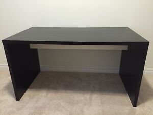 IKEA Malm desk in black-brown