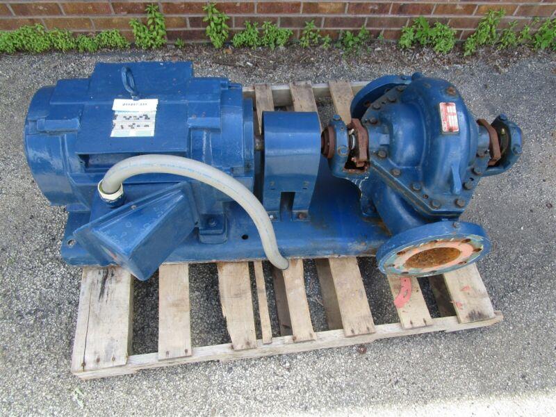 "500 GPM Aurora Centrifugal Pump 411/BF 95-02166 4""x5""x10B Marathon 40 HP Motor"