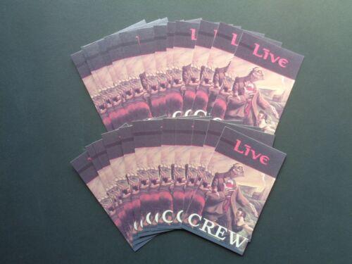 "LIVE,""CREW "" 25 Original Backstage pass laminate cards,WHOLESALE"