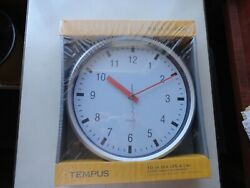 Tempus 10 Wall Clock. Quartz.Silent Sweep Movement.TC1508FE.Sealed.