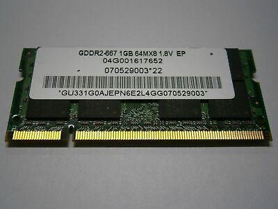 1 Go 04g001617652 Elpida pour ordinateur portable Mémoire-Ram GDDR - 67 1.8 V dd