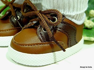 Vinyl Doll Shoes (BROWN & DARK BROWN Vinyl DOLL SNEAKERS SHOES fits 18