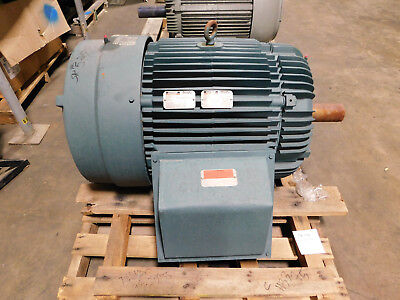 New Reliance Electric Motor 100 Hp 460 Volts 1188 Rpm 444t Frame Severe Duty Ac