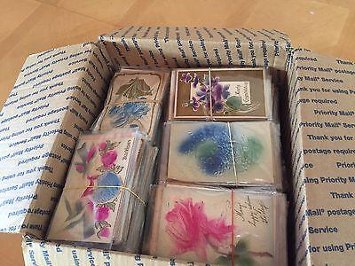 500 Huge Lot Vintage Holidays & Greetings Postcards-Heavy Embossed Airbrushed!