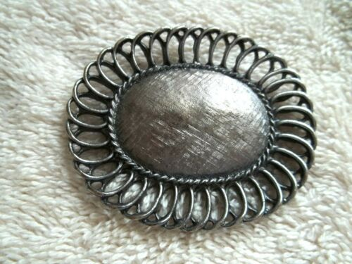 Vintage TIPTOE Scarf/Dress/Shoe Clip, Silver Tone Metal, Textured, Detailed