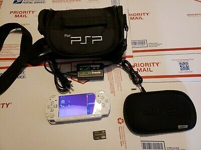 Sony PSP 2001 Star Wars Darth Vader Battlefront Tested W/ Charger 4 gb memory ca