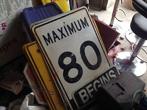maximum 80 km begins sign