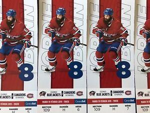 Billets Canadiens Montréal contre Blue Jackets Columbus