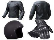 Motorbike set: leather jacket, gloves and helmet Baldivis Rockingham Area Preview