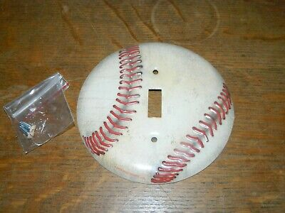 3D Baseball Metal Sports Light Switch Power Outlet Cover Plate Home decor -