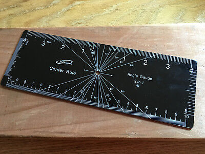 Igaging Center Rule And Angle Gauge
