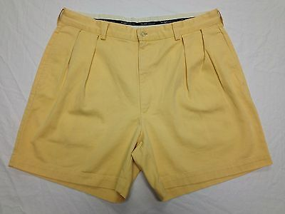 POLO RALPH LAUREN MENS YELLOW CASUAL-GOLF SHORTS SIZE 35W Tag 36 GUC BEST