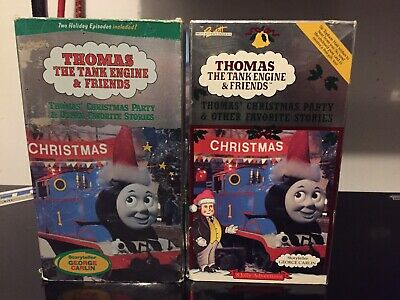 Thomas The Tank Engine VHS Tape Thomas' Christmas Party Carlin 1991 Works Lot ()