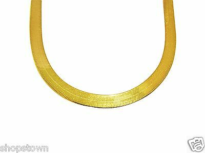 Women's Ladies 10k Yellow Gold 5 mm Herringbone Chain Herringbone Necklace