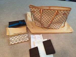 Louis Vuitton Neverfull MM and Emilie wallet