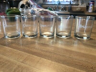 Bridesmaid Shot Glasses (Wedding Shot Glasses Groomsman Best Man)