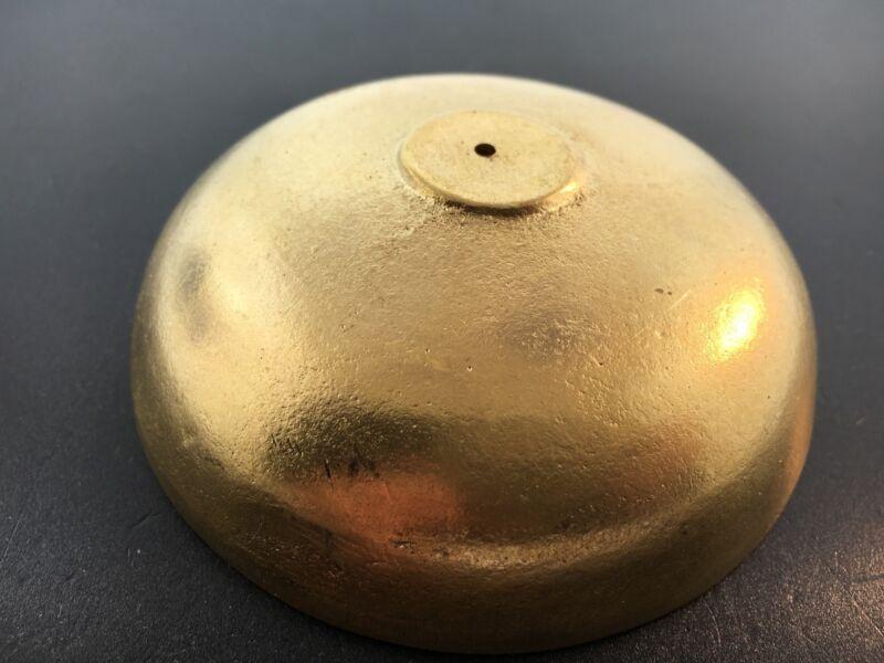 New Reproduction Brass Clock Bell 3 1/2 Diameter