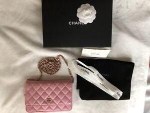 bfe86855e1d Chanel Pink Wallet on Chain