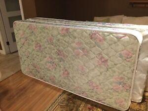 Twin Size Mattress (with box spring mattress) in good condition