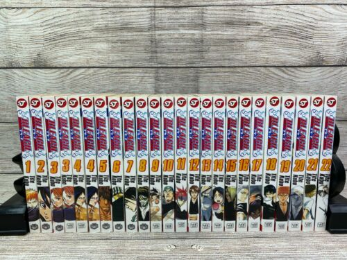 Bleach Manga Lot of Books Volumes 1-22 Shonen Jump  Anime Tite Kubo Used
