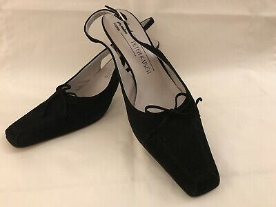 Peter Kaiser Black Suede Slingback UK Size 7.5 Excellent Used Condition In Box