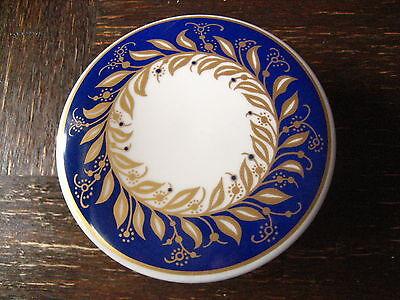 Thomas Porzellan Art Deco Dose Deckeldose weiß blau wunderschönes Dekor