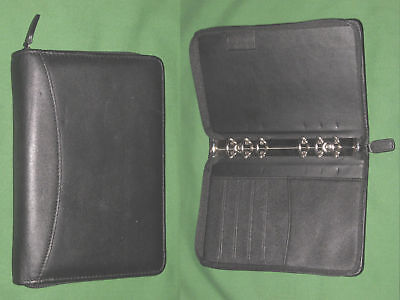 Compact 0.75 Black Leather Day Runner Planner Binder Franklin Covey 9512