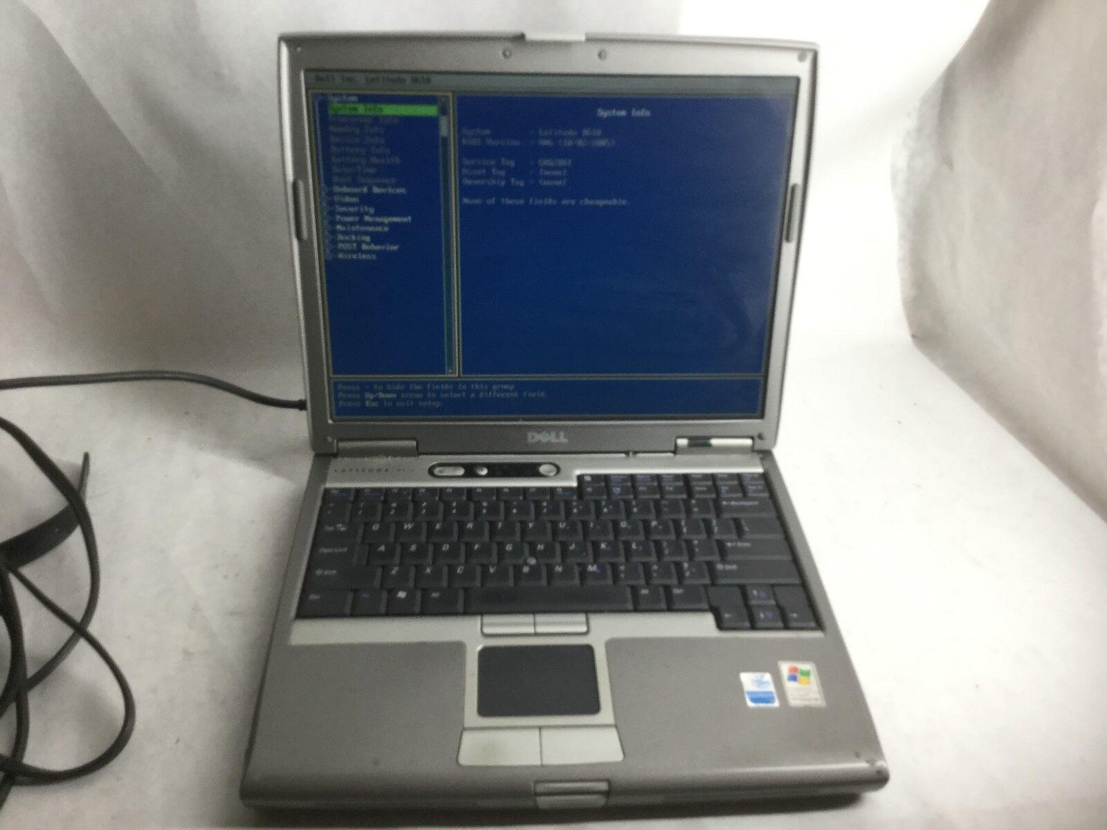 Dell Latitude D610 Intel Pentium M 1.86GHz 2gb RAM Laptop Computer -CZ