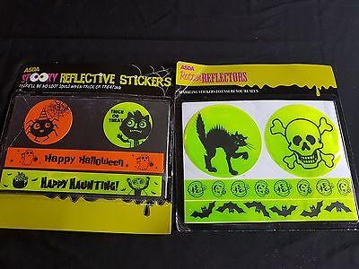 Halloween Accessories - Halloween Reflector Stickers Range - Glow in the Dark