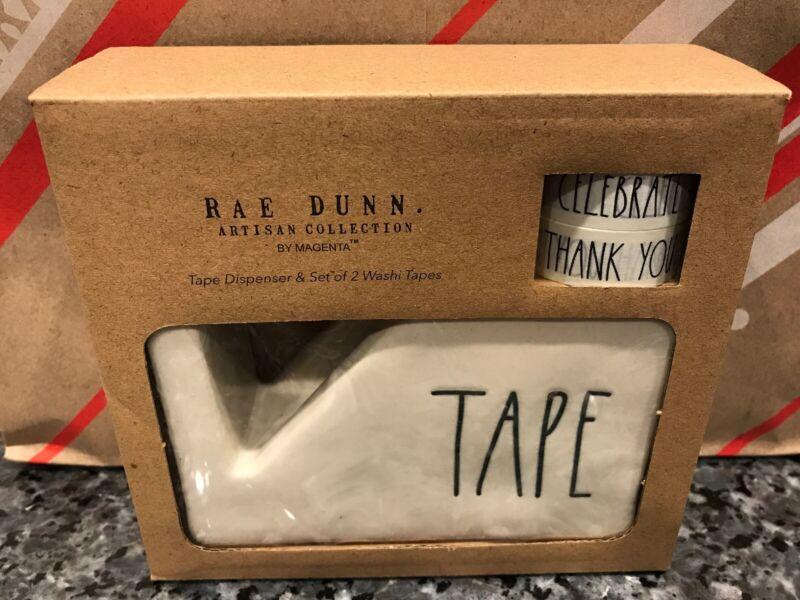 RAE DUNN Office Desk TAPE Dispenser LL 2019 NEW in Gift Box