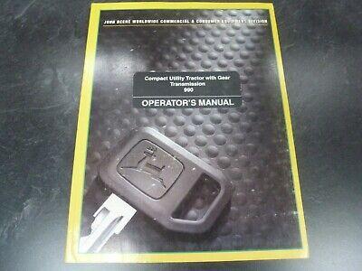John Deere 990 Compact Utility Tractor Owner Operator Manual Omlvu10907