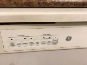 Kenmore fridge, Kitchen Aid stove, and GE dishwasher for sale.