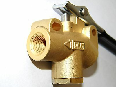 "Carpet Cleaning  1/4"" Brass  Wand angle valve"