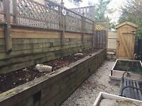 Is your retaining wall water damaged We  rebuild wood/stone