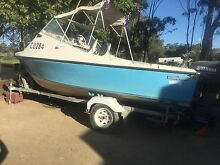 Fishing boat with new motor Moama Murray Area Preview