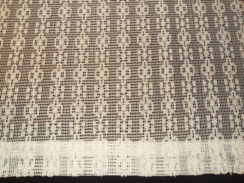 Vintage Lace Curtains Window Panels White Retro Treatments Dressings EUC